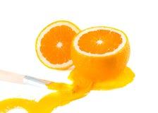 Orange und Lacke. Lizenzfreie Stockbilder