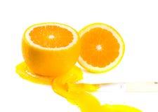 Orange und Lacke Stockfotografie