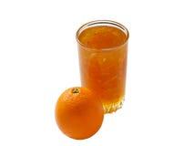 Orange und Orangenmarmelade stockbilder