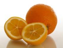 Orange und reicher Geschmack und Gesundheit der Zitrone stockfoto