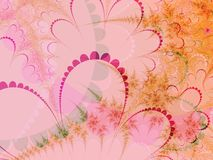Orange und rosafarbene Pastellformen Stockbild
