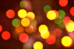 Orange und rotes bokeh Der Hintergrund mit boke Lizenzfreie Stockbilder