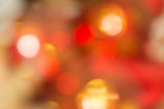 Orange und rotes bokeh Der Hintergrund mit boke Abstrakte Beschaffenheit Lizenzfreies Stockbild