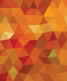 Orange und rotes Dreieck Lizenzfreies Stockfoto