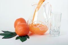 Orange und Saft. lizenzfreies stockbild
