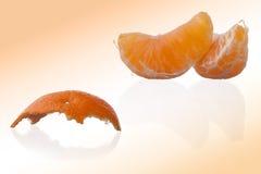 Orange und Schale Lizenzfreie Stockbilder