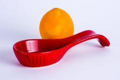 Orange und Schaufel Lizenzfreies Stockbild