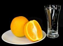 Orange und Scheibe Stockfotos
