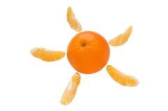 Orange und Scheiben lizenzfreie stockbilder