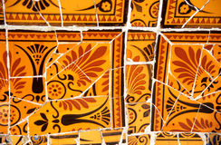 Orange und schwarzes Mosaik Lizenzfreie Stockfotos
