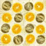 Orange und Tomate Lizenzfreies Stockbild