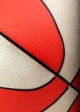 Orange und weiße Basketballnahaufnahme Lizenzfreie Stockfotografie