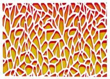 Orange und weißer abstrakter Hintergrund Stockfotografie