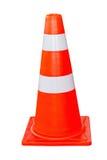 Orange und weißer traffice Kegel Lizenzfreie Stockfotografie
