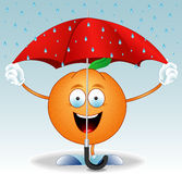Orange under an umbrella Royalty Free Stock Photo