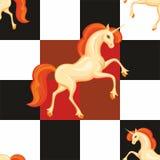 Orange unicorn seamless pattern Stock Photo