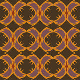 Orange universal vector seamless patterns, tiling. Geometric ornaments. Royalty Free Stock Images