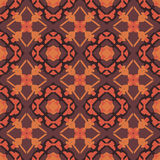 Orange universal vector seamless patterns, tiling. Geometric ornaments. Stock Photography