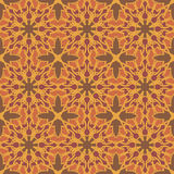 Orange universal vector seamless patterns, tiling. Geometric ornaments. Stock Photo