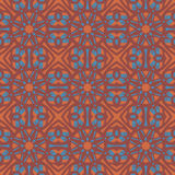Orange universal vector seamless patterns, tiling. Geometric ornaments. Stock Images