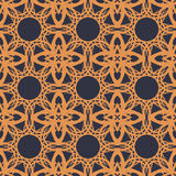 Orange universal vector seamless patterns, tiling. Geometric ornaments. Royalty Free Stock Image