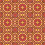 Orange universal vector seamless patterns, tiling. Geometric ornaments. Royalty Free Stock Photo