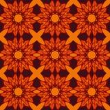 Orange universal vector seamless patterns, tiling. Geometric ornaments. Royalty Free Stock Photos