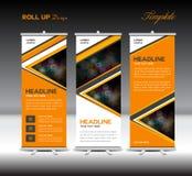 Orange Up Banner template stand template advertisement vector la Stock Photos