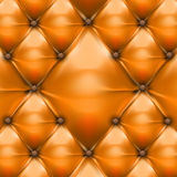 Orange upholstery leather pattern  Stock Photography
