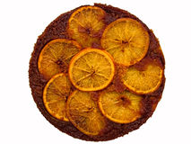 Orange upside down cake Royalty Free Stock Image