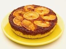 Orange upside down cake Royalty Free Stock Photography
