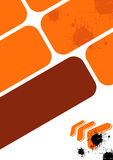 Orange urban design. Illustrated orange, brown and black urban grunge design Royalty Free Stock Images
