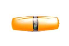 Orange usb-Blinken Stockbild
