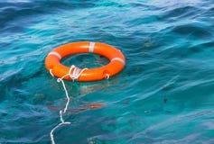 Orange utrustning för säkerhet för livboj Royaltyfri Bild