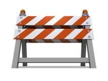 orange väg för barriärconsruction under Arkivfoto