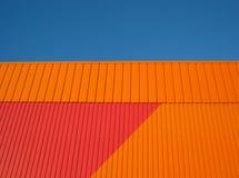 orange vägg Arkivfoton