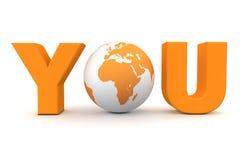 orange värld dig Royaltyfria Bilder