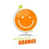 Orange världsjordklot Royaltyfria Bilder