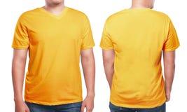 Orange V-Neck shirt design template Royalty Free Stock Photo