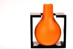 Orange vase Stock Photos