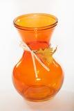 Orange Vase. Against a white background Royalty Free Stock Image