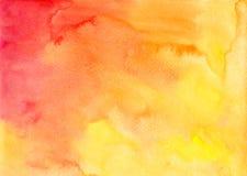Orange vattenfärgvektorbakgrund Arkivfoton