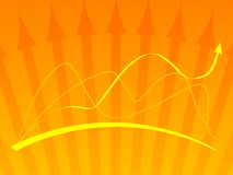 Orange vector background with  Stock Photography