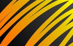 Orange vector background curve orange lines on dark space overlap layer graphic for text message modern artwork design. Orange vector background curve orange vector illustration