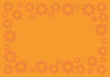 Orange Vector Background with Floral Pattern Border Royalty Free Stock Photography