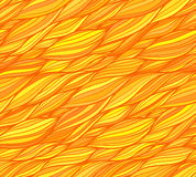 Orange vector doodle hair seamless pattern Royalty Free Stock Photography