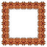 Orange vector frame.  square element. Stock Photography