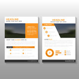 Orange Vector Leaflet Brochure Flyer business proposal template design, book cover layout design, Abstract orange template Royalty Free Stock Images