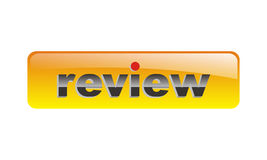 Orange vector review button stock illustration