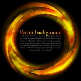 Orange vector ring on black backdrop Stock Photography